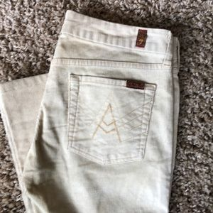 7 for all mankind corduroy flare jeans